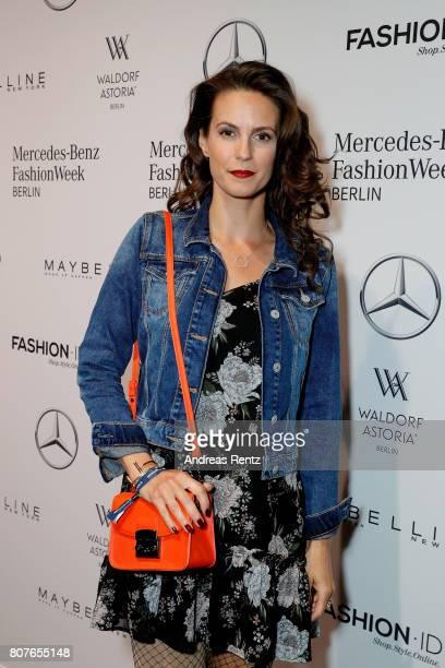 Katrin Wrobel attends the Lena Hoschek show during the MercedesBenz Fashion Week Berlin Spring/Summer 2018 at Kaufhaus Jandorf on July 4 2017 in...