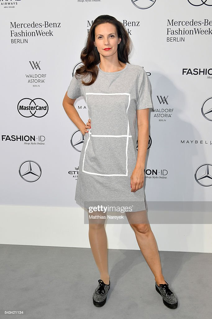 Katrin Wrobel attends the Odeur show during the Mercedes-Benz Fashion Week Berlin Spring/Summer 2017 at Erika Hess Eisstadion on June 28, 2016 in Berlin, Germany.