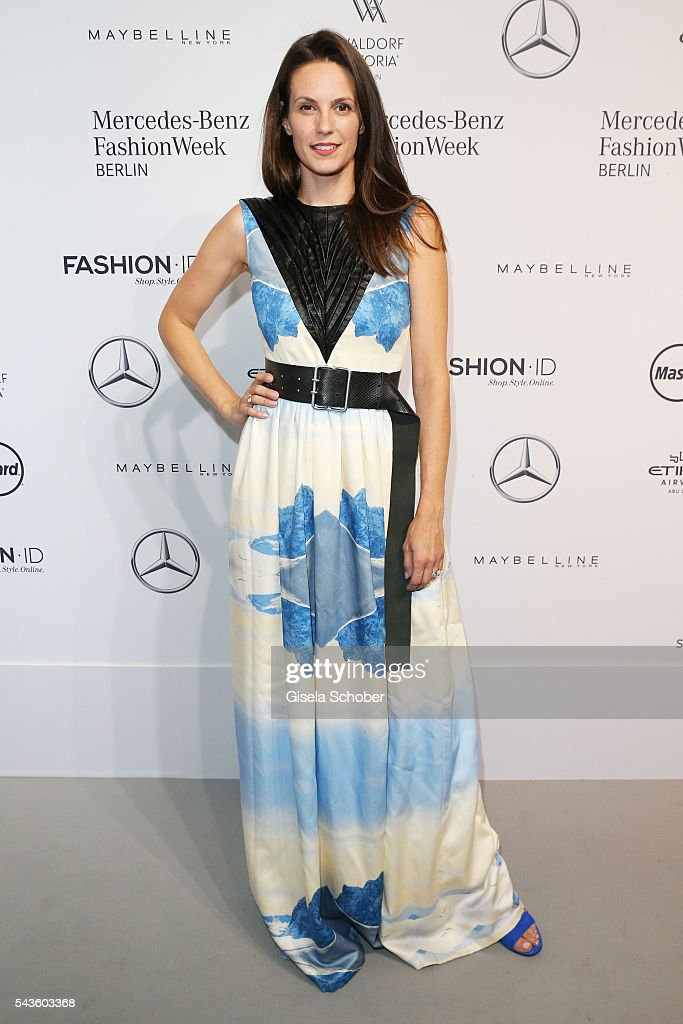 Katrin Wrobel attends the Rebekka Ruetz show during the Mercedes-Benz Fashion Week Berlin Spring/Summer 2017 at Erika Hess Eisstadion on June 29, 2016 in Berlin, Germany.