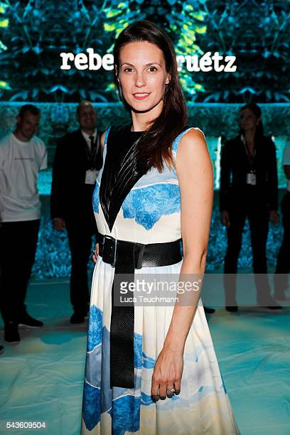 Katrin Wrobel attends the Rebekka Ruetz show during the MercedesBenz Fashion Week Berlin Spring/Summer 2017 at Erika Hess Eisstadion on June 29 2016...