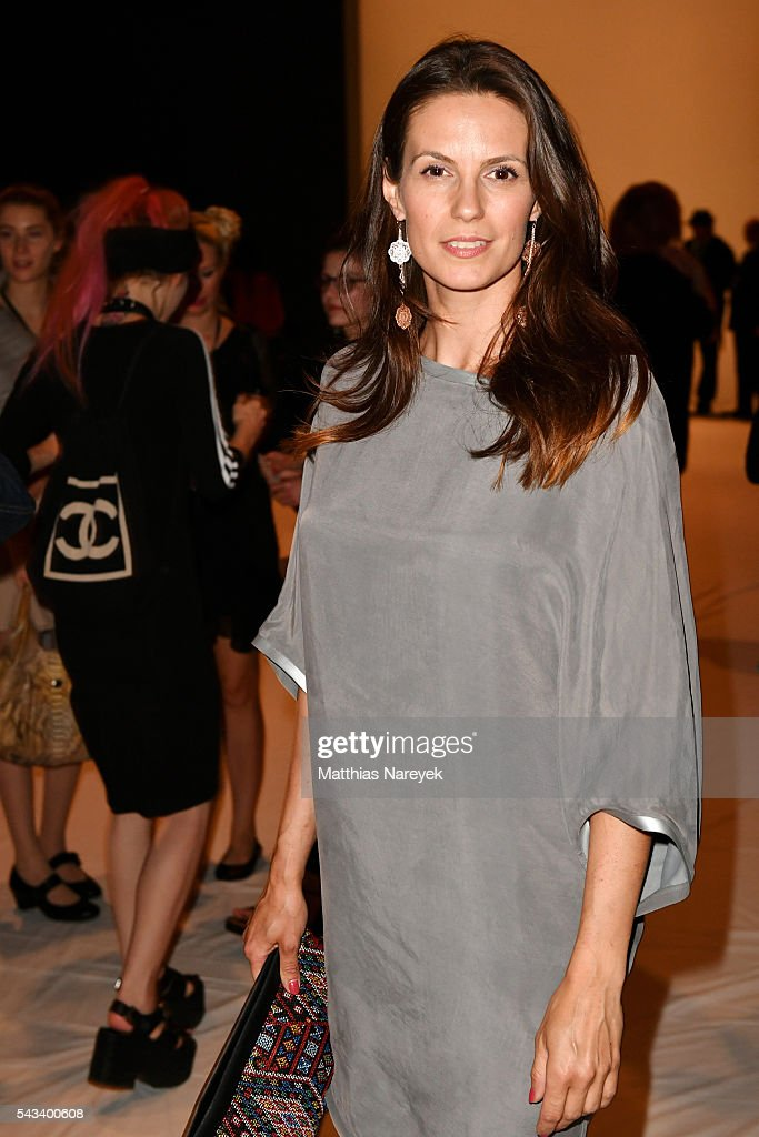 Katrin Wrobel attends the Steinrohner show during the Mercedes-Benz Fashion Week Berlin Spring/Summer 2017 at Erika Hess Eisstadion on June 28, 2016 in Berlin, Germany.