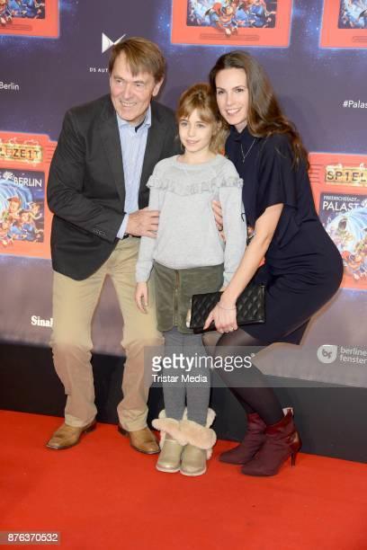 Katrin Wrobel her daughter Louisa Katharina Fricke and her husband Klaus Fricke attend the premiere of the children's show 'Spiel mit der Zeit' at...