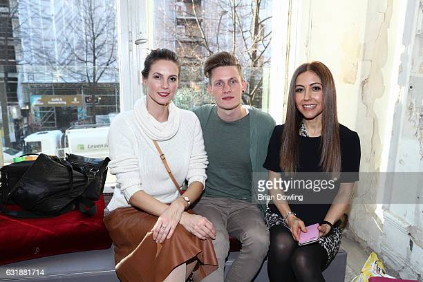 Katrin Wrobel Lars Urban and Anastasia Zampounidis attend the holyGhost show during the MercedesBenz Fashion Week Berlin A/W 2017 at Kaufhaus Jandorf...