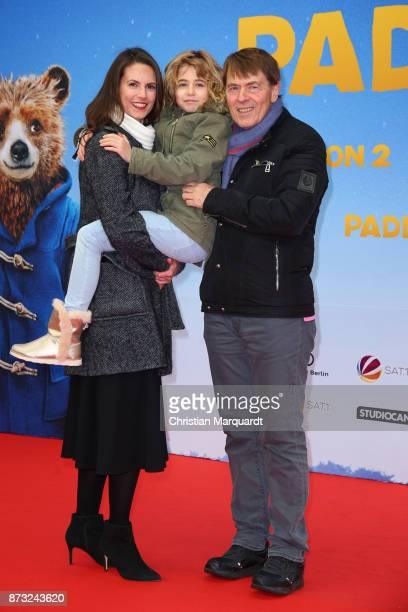 Katrin Wrobel with partner Klaus Frick and her daughter Louisa attend the 'Paddington 2' premiere at Zoo Palast on November 12 2017 in Berlin Germany