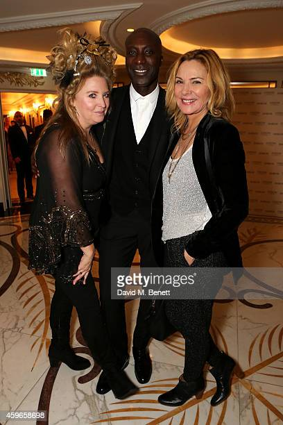 Katrina Boorman designer Ozwald Boateng and actress Kim Cattrall attend Dancing Away photographic exhibition by Mikhail Baryshnikov at ContiniArtUK...