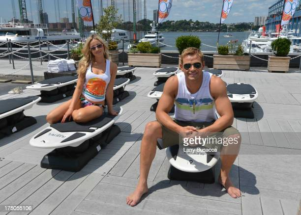 Katrina Bowden and Kellan Lutz host OP's 'Surf For Life' event on July 30 2013 in New York City