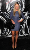Katrina Bowden arrives at the Alice Olivia presentation during MercedesBenz Fashion Week Fall 2014 at The McKittrick Hotel on February 10 2014 of New...