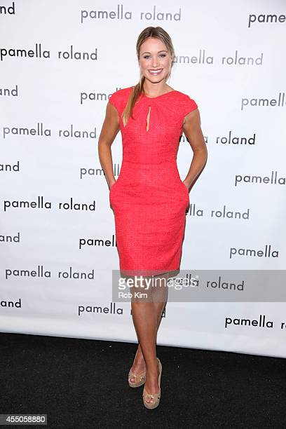 Katrina Bowden attends Pamella Roland during MercedesBenz Fashion Week Spring 2015 at The Salon at Lincoln Center on September 9 2014 in New York City