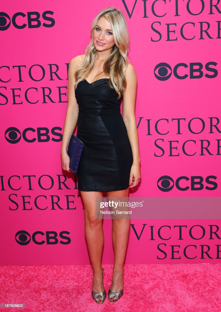 <a gi-track='captionPersonalityLinkClicked' href=/galleries/search?phrase=Katrina+Bowden&family=editorial&specificpeople=4272761 ng-click='$event.stopPropagation()'>Katrina Bowden</a> attends the 2013 Victoria's Secret Fashion Show at Lexington Avenue Armory on November 13, 2013 in New York City.