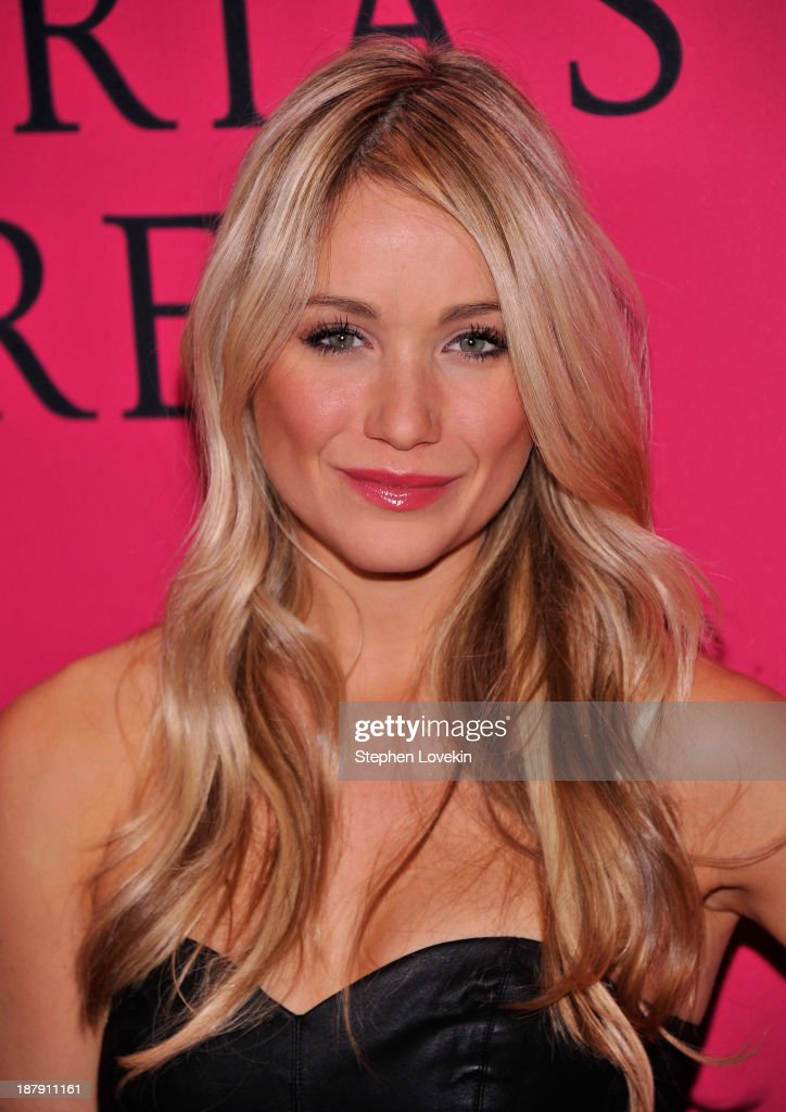 Katrina Bowden attends the 2013 Victoria's Secret Fashion Show at Lexington Avenue Armory on November 13, 2013 in New York City.