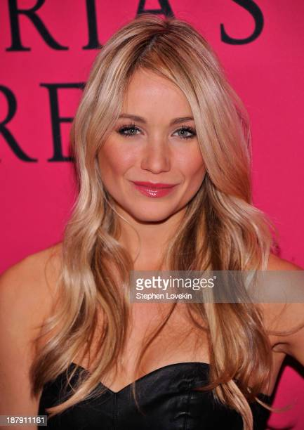 Katrina Bowden attends the 2013 Victoria's Secret Fashion Show at Lexington Avenue Armory on November 13 2013 in New York City