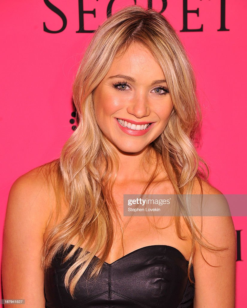 Katrina Bowden attends the 2013 Victoria's Secret Fashion Show at TAO Downtown on November 13, 2013 in New York City.