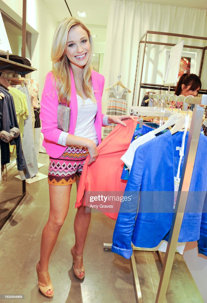 Katrina Bowden attends the LOFT Pop-Up On Robertson event on March 12, 2013 in Los Angeles, California.