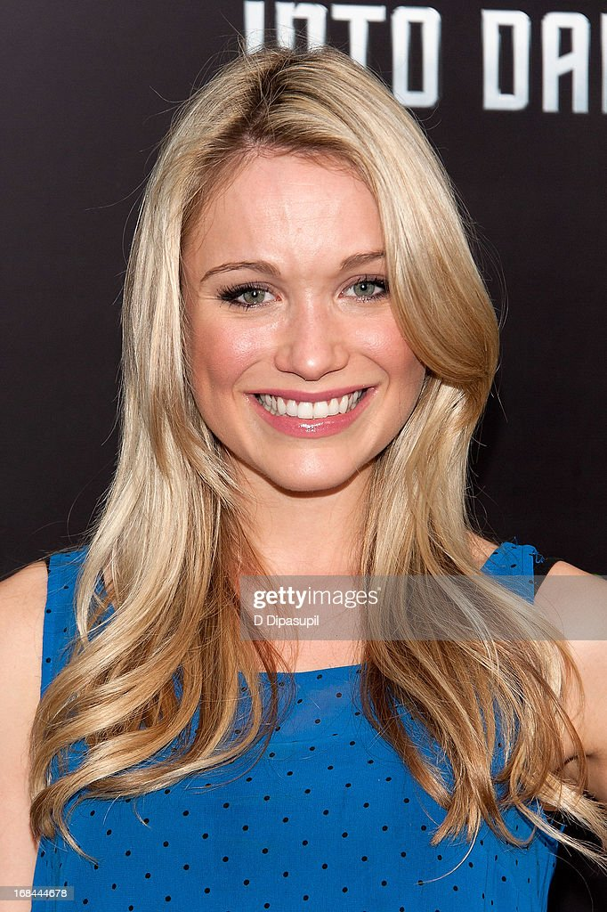 <a gi-track='captionPersonalityLinkClicked' href=/galleries/search?phrase=Katrina+Bowden&family=editorial&specificpeople=4272761 ng-click='$event.stopPropagation()'>Katrina Bowden</a> attends the 'Star Trek Into Darkness' screening at AMC Loews Lincoln Square on May 9, 2013 in New York City.
