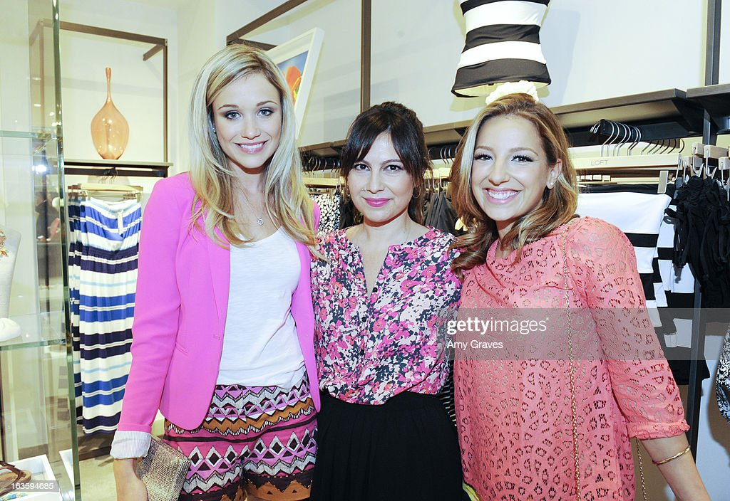 Katrina Bowden, Nicole Chavez and Vanessa Lengies attend the LOFT Pop-Up On Robertson event on March 12, 2013 in Los Angeles, California.