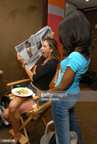 Katrina Campins and Omarosa ManigaultStallworth during The Lucky/Cargo Club An Upfront Week Hospitality Suite Day 3 at Le Parker Meridien in New York...