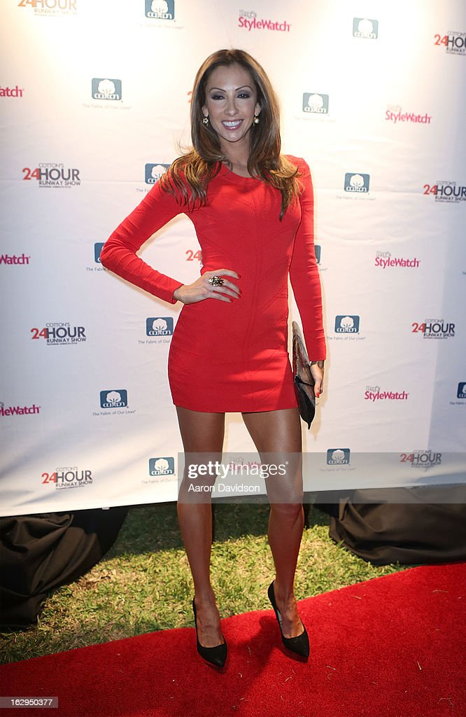 <a gi-track='captionPersonalityLinkClicked' href=/galleries/search?phrase=Katrina+Campins&family=editorial&specificpeople=220205 ng-click='$event.stopPropagation()'>Katrina Campins</a> attends Cotton's 24 Hour Runway Show On South Beach on March 1, 2013 in Miami Beach, Florida.
