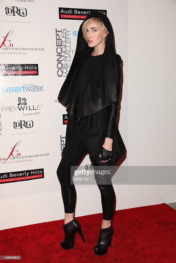 Katrina Hunter attends Fashion Group International's Meet the Designer & the Muse at Ace Gallery on March 8, 2012 in Los Angeles, California.