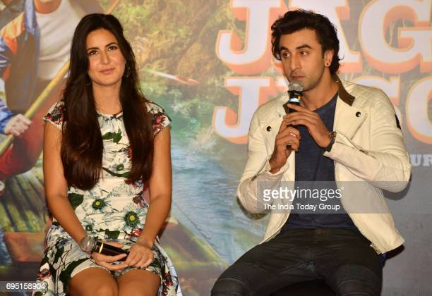 Katrina Kaif and Ranbir Kapoor during the second song launch of film Jagga Jasoos 'Galti Se Mistake' in Mumbai