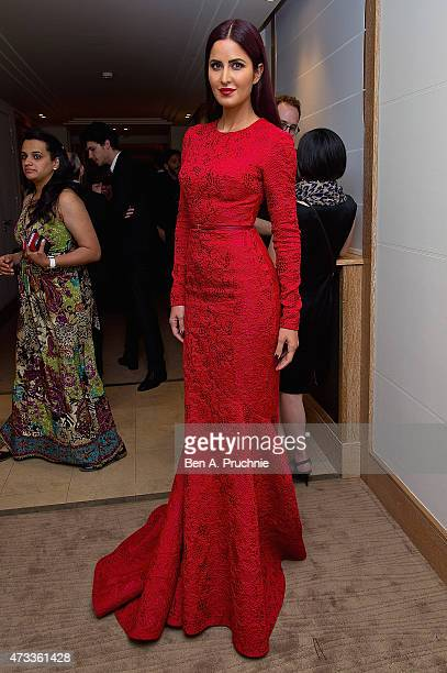 Katrina Kaif attends a party hosted by L'Oreal Paris UniFrance and Stylist during the 68th annual Cannes Film Festival on May 14 2015 in Cannes France