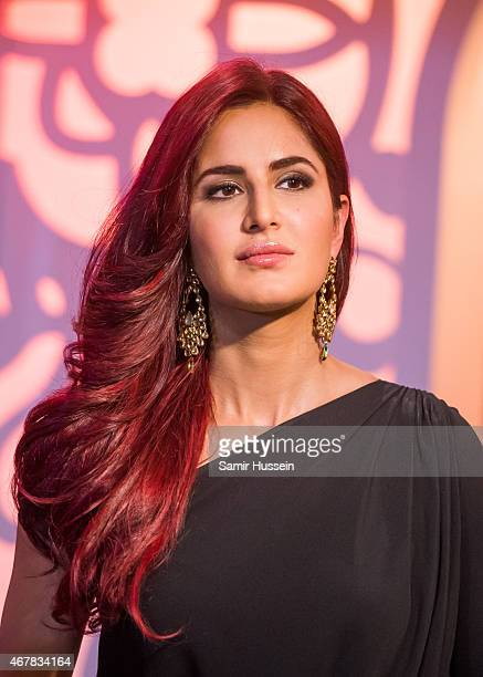 Katrina Kaif attends a photocall to unveil her new wax figure at Madame Tussauds on March 27 2015 in London England