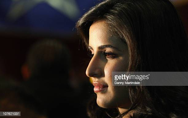 Katrina Kaif attends the Bollywood film premiere 'Tees Maar Khan' at Cineworld Feltham on December 15 2010 in London England