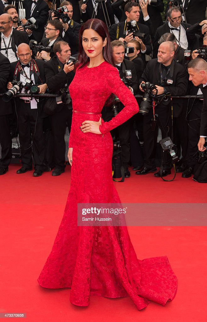 Katrina Kaif attends the 'Mad Max Fury Road' Premiere during the 68th annual Cannes Film Festival on May 14 2015 in Cannes France
