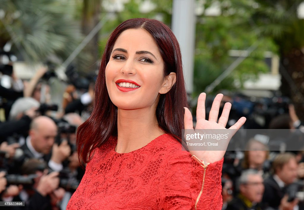 Katrina Kaif attends the premiere of 'Mad Max Fury Road' during the 68th annual Cannes Film Festival on May 14 2015 in Cannes France