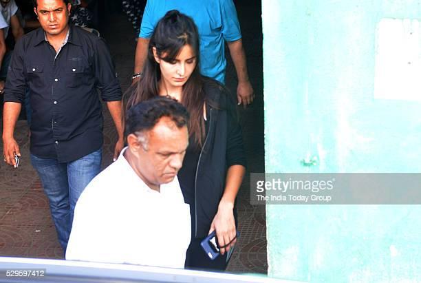 Katrina Kaif during the dance practice for upcoming film Jagga Jasoos at Ganesh Acharyas studio in Mumbai