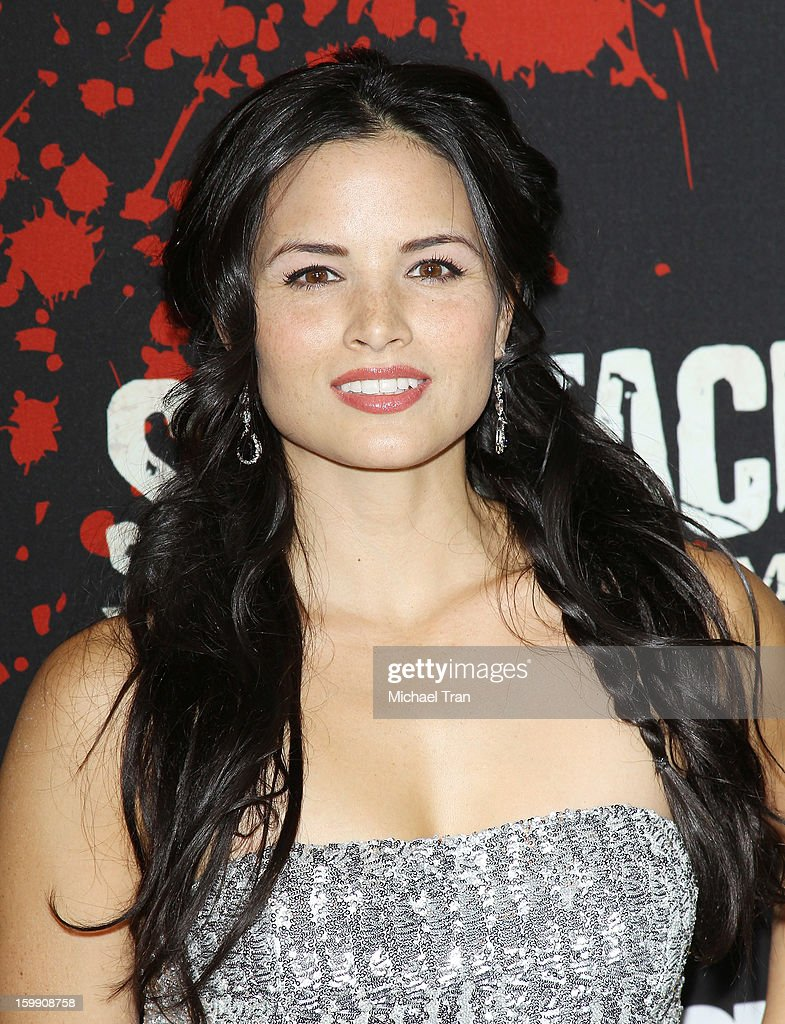 Katrina Law arrives at the Los Angeles premiere of 'Spartacus: War Of The Damned' held at Regal Cinemas L.A. LIVE Stadium 14 on January 22, 2013 in Los Angeles, California.