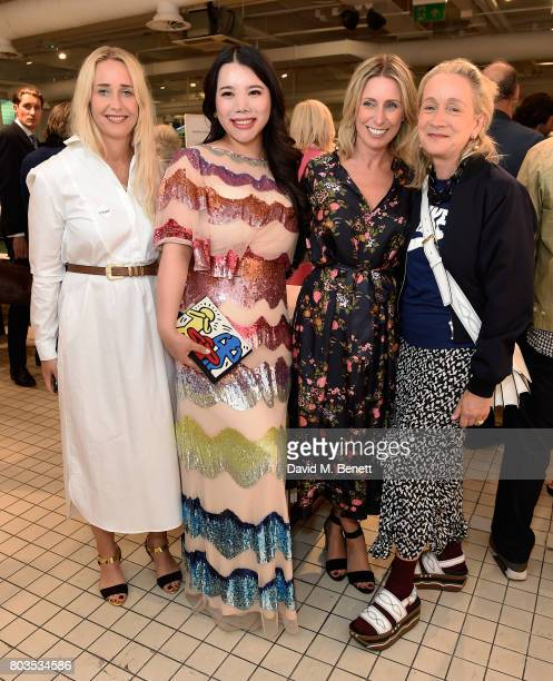 Katrina Macpherson Wendy Yu Claire Miles and Lucinda Chambers attend the Fashion Illustration Gallery Art Fair private view at The Shop at Bluebird...