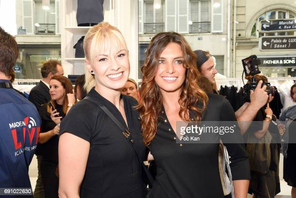 Katrina Patchett and Laetitia Millot attends Le Coq Sportif x Guerlain photocall at the Le Coq Sportif Flagship on May 31 2017 in Paris France