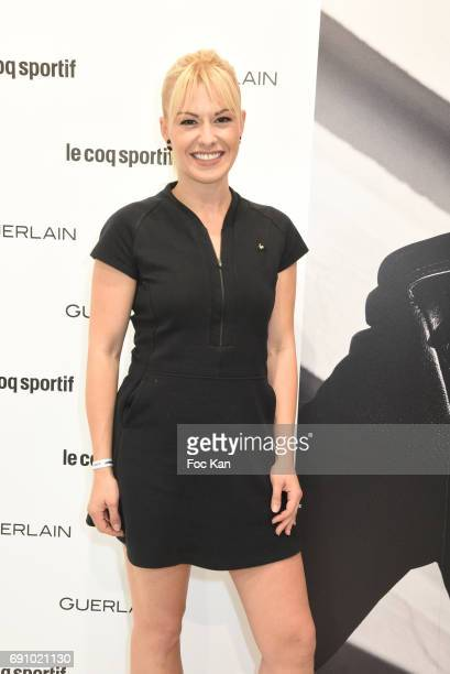 Katrina Patchett attends Le Coq Sportif x Guerlain photocall at the Le Coq Sportif Flagship on May 31 2017 in Paris France