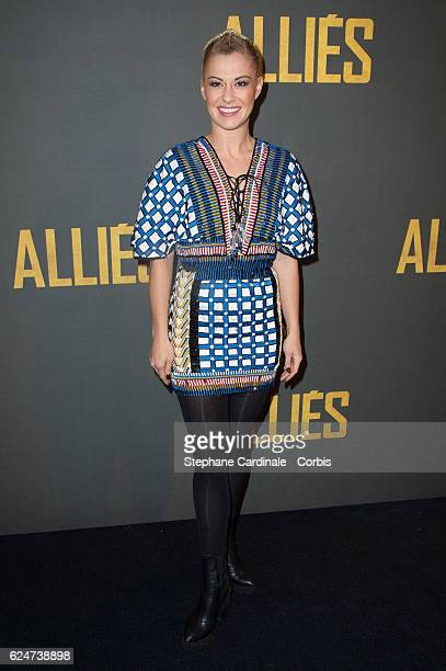 Katrina Patchett attends the 'Allied Allies' Paris Premiere at Cinema UGC Normandie on November 20 2016 in Paris France