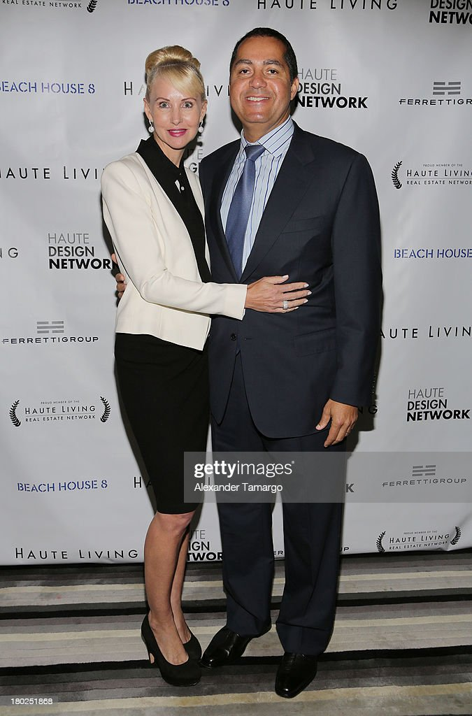 Katrina Peebles and R. Donahue Peebles attend the Haute Magazine Real Estate Summit at the W Hotel South Beach on September 10, 2013 in Miami, Florida.