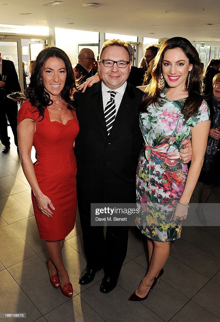 Katrina Shalit, Jonathan Shalit and <a gi-track='captionPersonalityLinkClicked' href=/galleries/search?phrase=Kelly+Brook&family=editorial&specificpeople=206582 ng-click='$event.stopPropagation()'>Kelly Brook</a> attend a drink reception celebrating 'An Evening With Chickenshed', a cabaret performance in aid of inclusive theatre company Chickenshed, hosted by Jonathan Shalit at The London Television Centre on April 16, 2013 in London, England.