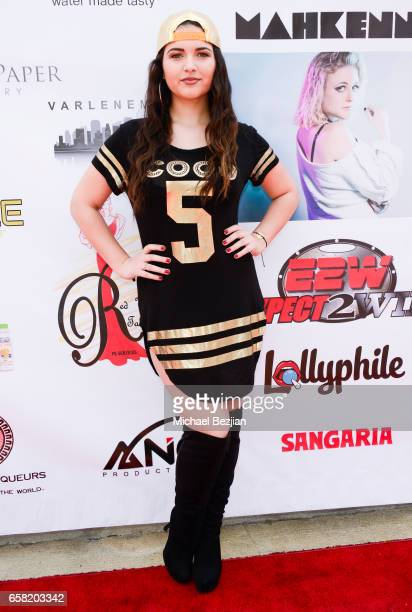Katrina Stuart arrives at Teen Recording Artist Mahkenna's Sweet 16/Expect2Win Extravaganza at ANC Productions on March 26 2017 in Burbank California