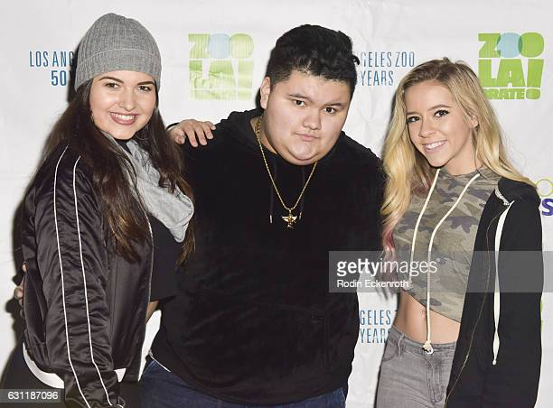 Katrina Stuart Jovan Armand and Madysyn Rose attend LA Zoo Lights Jesaiah presents Music of Wonderland at Los Angeles Zoo on January 7 2017 in Los...