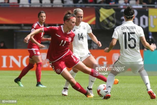 Katrine Veje of Denmark women Anna Blasse of Germany women Sara DoorsounKhajeh of Germany women during the UEFA WEURO 2017 quarter finale match...