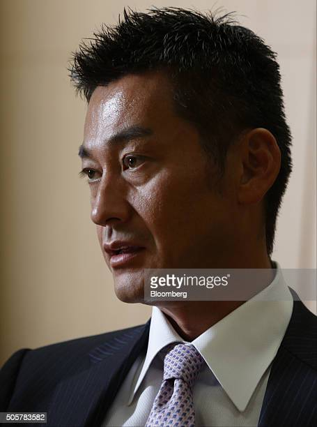Katsunori Sago executive vice president of Japan Post Bank Co speaks during an interview in Tokyo Japan on Wednesday Jan 20 2016 Japan Post Bank on...