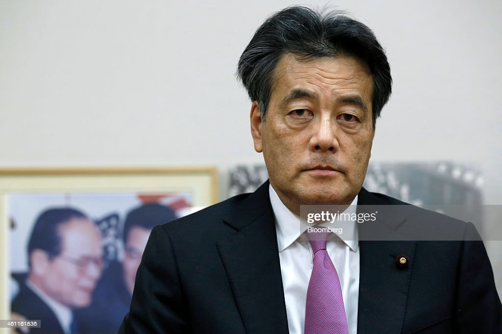 Katsuya Okada, a candidate for president of the Democratic Party of Japan (DPJ), poses for a photograph in Tokyo, Japan, on Wednesday, Jan.7, 2015. Okada, 61, faces former nuclear policy minister Goshi Hosono, 43, and 54-year-old Akira Nagatsuma in the Jan. 18 DPJ leadership election. Photographer: Kiyoshi Ota/Bloomberg via Getty Images
