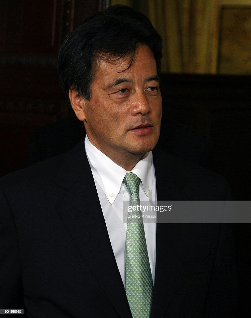 Katsuya Okada of Democratic Party of Japan leaves a meeting at the Diet building on September 9, 2009 in Tokyo, Japan. DPJ secured 308 seats out of 480 in the lower house election but still need the coalition with these two parties to keep control in the upper house.