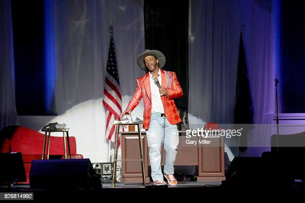 Katt Williams performs on stage during the 'Great America Tour' at HEB Center on August 5 2017 in Cedar Park Texas
