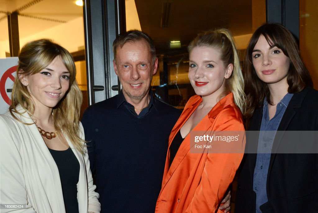 Katty Besnard, Bill Gaytten, Anais VandevyvereÊand Louise Basilien from the Plastiscines band attend the John Galliano - Front Row - PFW F/W 2013 at Le Centorial on March 3, 2013 in Paris, France.