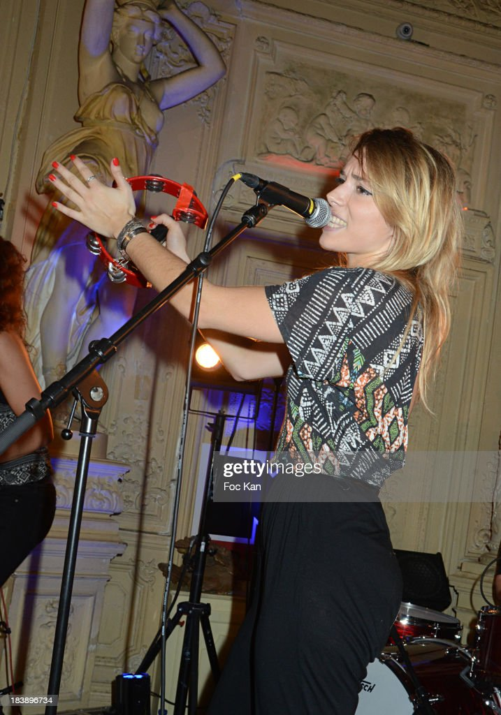 Katty Besnard from The Plastiscines performs during the the Plastiscines private concert hosted by MTV Pulse at The Carmen Club on October 9, 2013 in Paris, France.