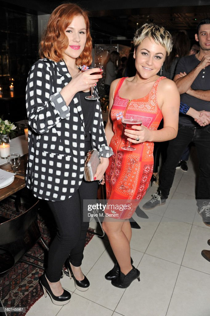 Katy B and Jaime Winstone attend as Nick Grimshaw hosts his first annual award season dinner at Hix in association with Philips Sound on February 19...
