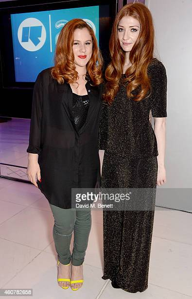 Katy B and Nicola Roberts attend the Rinse FM 20th Birthday Anniversary Dinner at St Martins Lane Hotel on December 22 2014 in London England