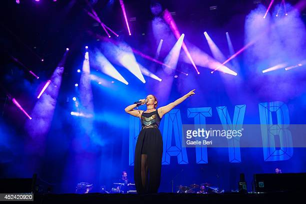 Katy B performs on Day 3 of Benicassim Music Festival on July 19 2014 in Benicasim Spain