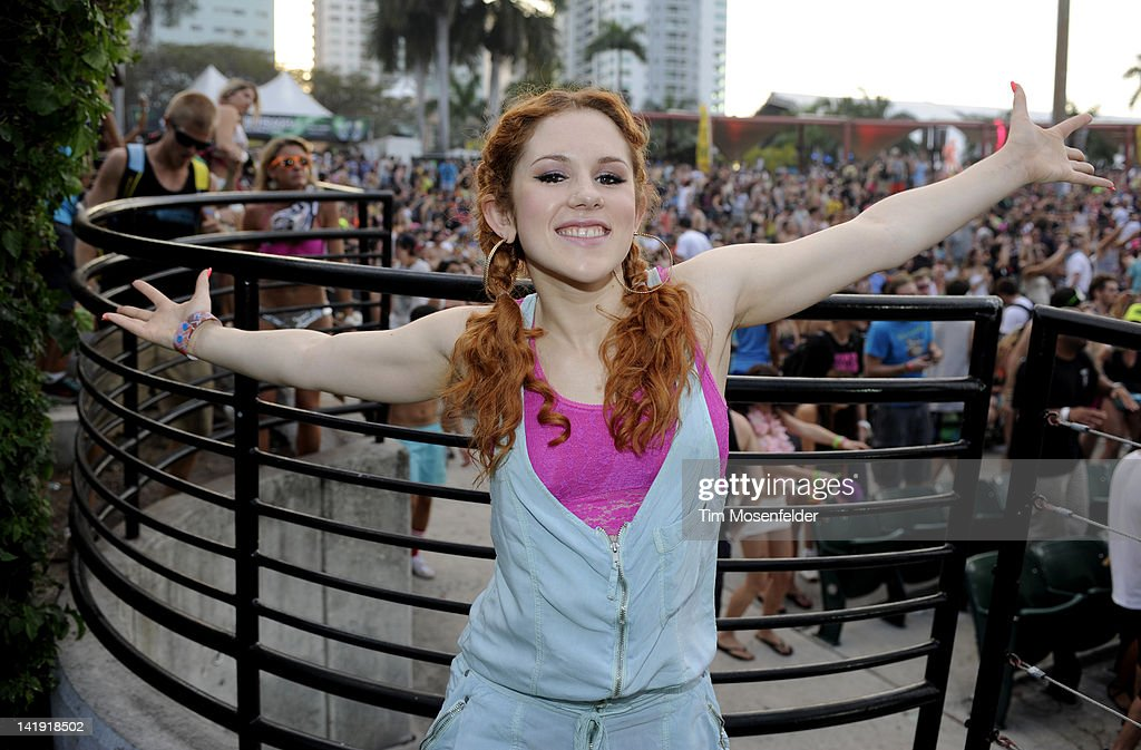 Katy B poses at of Day Three of Ultra Music Festival 14 at Bayfront Park on March 25, 2012 in Miami, Florida.