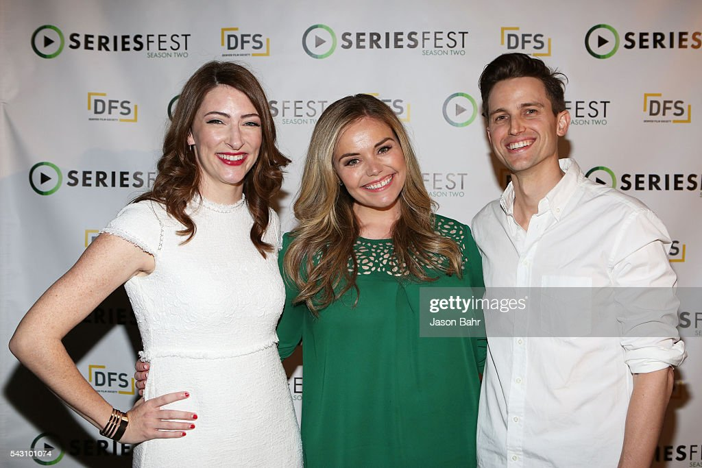 Kate Lambert, Katy Colloton, and Brad Gardner arrive to SeriesFest: Season Two for the 'From Web to